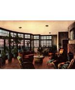 HANDCOLORED POSTCARD-THE SOLARIUM  AT THE MIMSLYN HOTEL, LURAY, VA  BK16 - $2.94