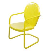 LB International Outdoor Retro Metal Tulip Armchair, Yellow - $73.00