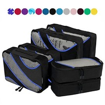 6 Set Packing Cubes,3 Various Sizes Travel Luggage Packing Organizers Black - $709,23 MXN