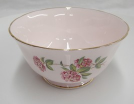 Tuscan Bone China June Glory Open Sugar Bowl Flowers Butterfly Pink Gild... - $13.93
