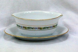 Noritake 1978 #6717 Macon Gravy Boat With Attached Under Plate - $9.69