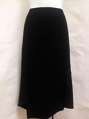 Lafayette 148 2 Skirt Black Asymmetric Hem