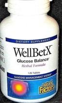 Glucose Balance Herbal Health Formula Natural Factors WellBetX 120CT MSRP $25.99 - $16.69