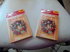 Hallmark 16 Christmas Wreath Holiday Thank you cards and envelops - $6.95