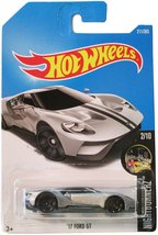 Hot Wheels 2017 Nightburnerz '17 Ford GT 211/365, Silver - $2.99