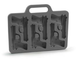 Gun Shaped Ice Cube Tray Case Molder Briefcase Handguns Party Drinks Coo... - $23.97