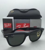 New Ray-Ban Sunglasses RB 2140 901 54-18 150 WAYFARER Black w/ G15 Green... - $149.95