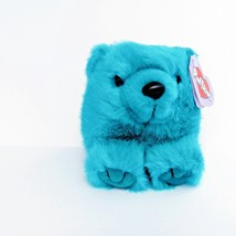 Puffkins Collection Telly Teal Blue Colored Bear Stuffed Plush 6673 - $12.30