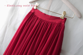 Plus Size Full Long Tulle Skirt Gray Blush White Women Tulle Skirt Wedding Skirt image 12