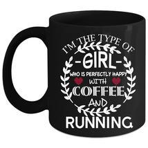 Coffee And Running Coffee Mug, Beautiful Girls Coffee Cup - $21.99