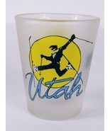 """Utah Skiing 2.25"""" Frosted Collectible Shot Glass - $8.42"""