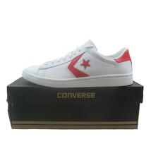 Converse Pro Leather LP OX Womens Size 10 White Casino Red NEW 555933C - $49.45
