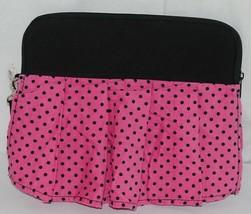GANZ Brand Hot Pink Black Polka Dots iPad Tablet Skirt Carrying Case image 1