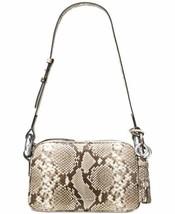 Michael Kors Grand Natural Medium Shoulder Bag Embossed Leather - $189.90