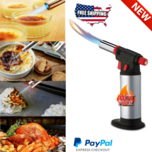 NEW Torch Butane Lighter Culinary Kitchen Cooking Chef Fuel Gauge Dab Bl... - $16.82