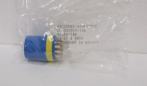 Amphenol 97 22 14S Circular Insert Socket Connector Size 22 Blue