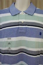 Izod Mens Casual Shirt Sz XL Malachite Blue Heritage Oxford Stripe Polo ... - $25.26