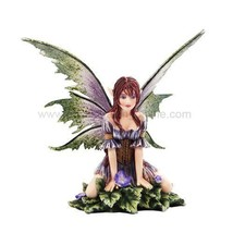 "Amy Brown Fantasy Wild Violet Faery Mushroom Fairy Statue Enchanted 6""h ... - $29.99"