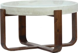 Coffee Table DOVETAIL DELGADO Light-Weight Cement Top New - €896,13 EUR
