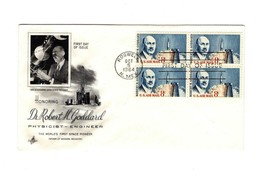 FDC ENVELOPE-HONORING DR. ROBERT M. GODDARD BL4-1964 ART CRAFT CACHET BK12 - $2.91