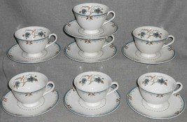 Set (7) Royal Doulton OLD COLONY PATTERN Cups/Saucers MADE IN ENGLAND - $69.29