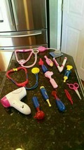 Fisher Price Kids Doctor Nurse Hair Dresser 14 Pieces - All Light-Ups Work! - $18.65