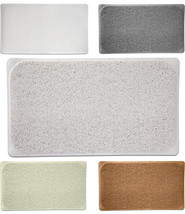 "Premium Woven Loofah Non Slip Bathtub Shower Mat - 17.25"" x 29.5"" 5 Colors - $21.59"