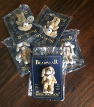 New PIN Boyds Bears Bearwear T F Wuzzies Teddy Bear 20th Anniversary Handmade - $7.24