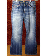 7 FOR ALL MANKIND med blue cotton denim flare jeans 27 (T05-02B8G) - $15.82
