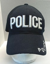Police Hat Adjustable Black Cap Embroidered Logo West Best Headwear - $13.95