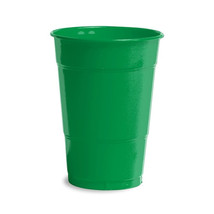 16 oz Solid Plastic Cups Emerald Green/Case of 240 - $64.35