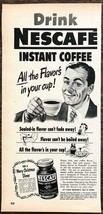 1951 Nescafe Instant Coffee PRINT AD All the Flavor's In Your Cup! - $9.59