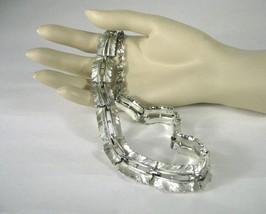 Lisner Necklace Choker Silver Tone Strand 15 Inches Signed String VTG 1950 ADJ - $44.54