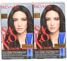 2 Revlon Salon Color 3 Natural Black Booster Kit Luminous Gray Coverage - $24.99