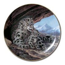 W.S George Fine China: The Snow Leopard [Bradford Exchange] Collector Plate - $45.00