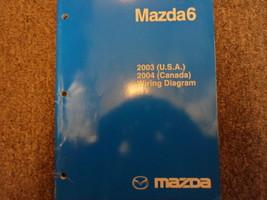 2003 Mazda 6 Mazda6 Electrical Wiring Diagram Troubleshooting Manual EWD EVTM 03 - $143.50