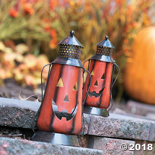 Fun Express Jack O Lantern Metal Lanterns - 2 Pieces image 2