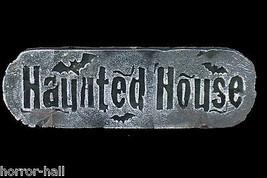 Gothic Horror Scene Sign-HAUNTED HOUSE-Halloween Party Prop Wall Door De... - $5.91
