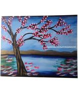 Cherry Blossom Tree  - original acrylic painting - $60.00