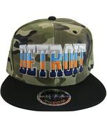 Detroit 4-Color Script Adult Size Snapback Baseball Caps (Camouflage/Black) - $12.95