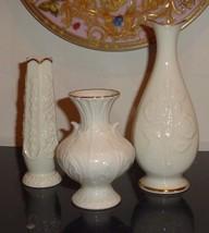 Lenox Set of 3 Ivory Color Vases - $49.00