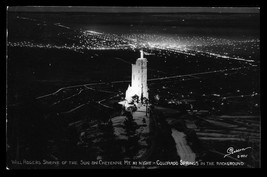 Nightlights Shrine of the Sun Real Photo Postcard Colorado Springs Will ... - $14.99