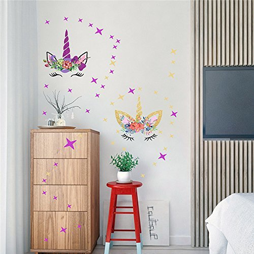 Wall Decals For Living Room Semi Gloss Fairytale Unicorn ...
