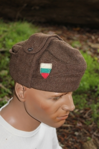 668a7f59585 Pilotka1. Pilotka1. Previous. Vintage Soviet Era Bulgarian military wool  pilotka cap hat communist socialist