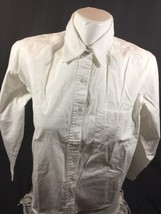 Karen Scott Women White Casual Shirt Size P Soild Color Long Sleeve Bin7... - $13.10