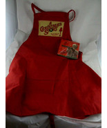 A CHRISTMAS STORY Red Apron You'll Shoot Your Eye Out + new Napkins  - $35.63