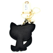 Pave Crystal Accent 3D Stuffed Pillow Black Kitty Cat Keychain Key Chain image 2