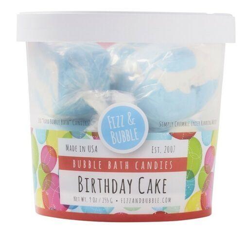 FIZZ & Bubble BIRTHDAY CAKE Bubble BATH Candies NEW 9 oz  - $11.95