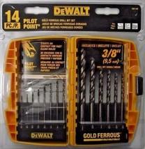 Dewalt DW1169 14 Piece Gold Ferrous Twist Drill Bit Set - $12.87