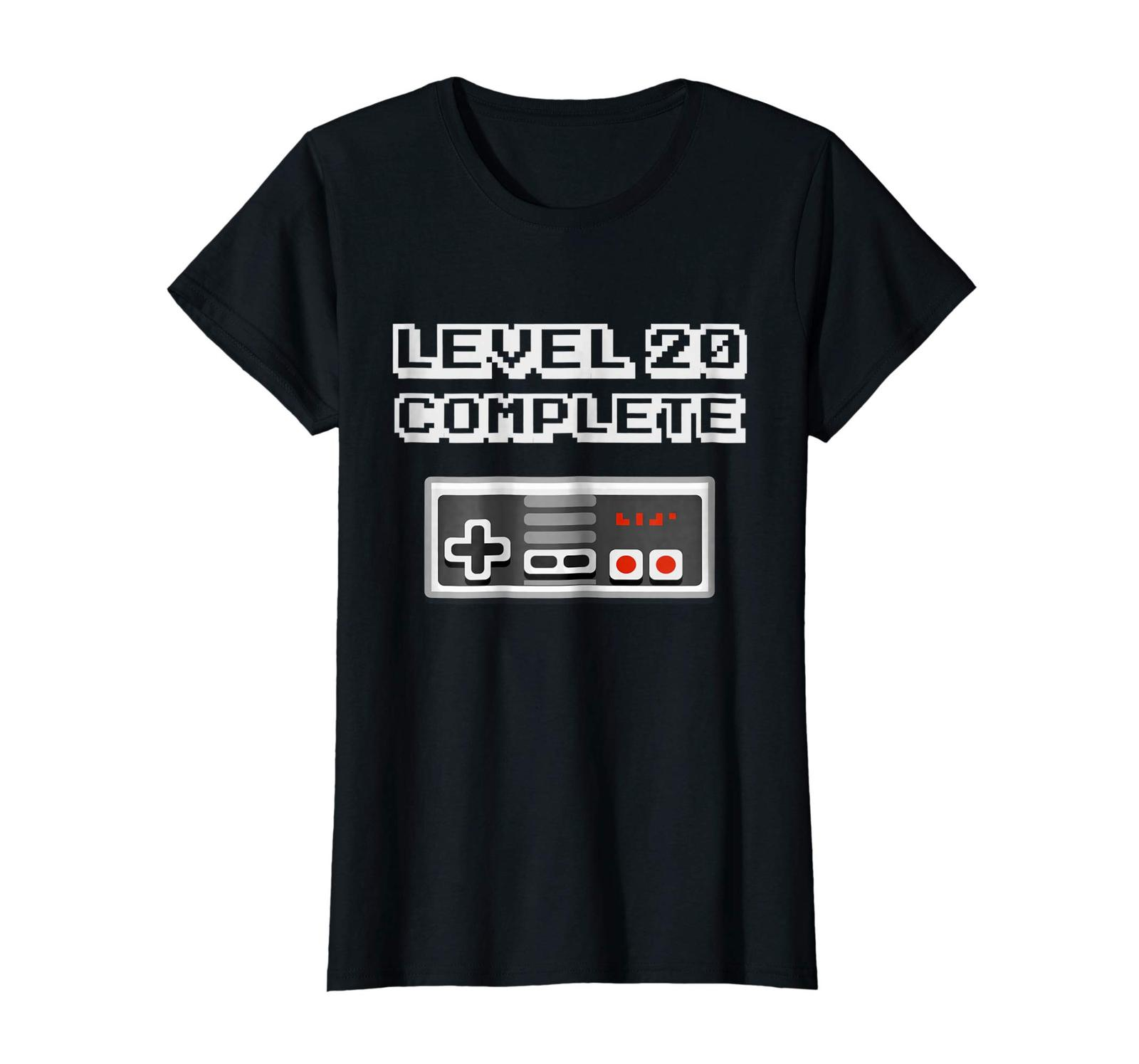 New Shirts - Level 20 Complete Retro Video Gamer 20th Birthday Gift Shirt Wowen image 2